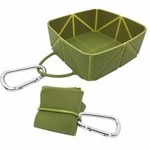 iKaboodle FoldaBowl Dog Travel Bowl. Folding Single Silicone Portable Bowl with