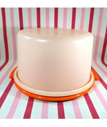 Fantastic MoD Orange 1970's Tupperware Top Hat Cake Saver, Taker & Serve... - $18.00