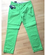 Polo Ralph Lauren Pants 34 X  32 Green Straight Fit Bedford Chino 34 32 ... - $49.45