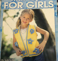 Leisure Arts Knit Tops For Girls 5 Fabulous Pattern Designs Kelly Wilson... - $14.67