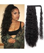 Stamped Glorious 22 Inch Long Corn Wave Ponytail Extension Magic Paste H... - $14.58