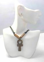 Ankh Bone Beaded Necklaces - $10.00