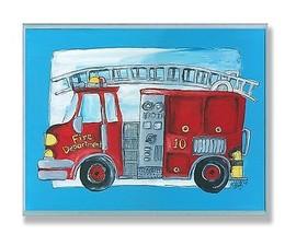Stupell Industries The Kids Room Fire Truck Blu... - $41.96