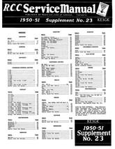 Radio College of Canada Service Manual 1950-1951 No. 23 * Schematics * C... - $6.99