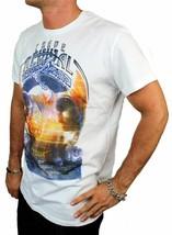 BRAND NEW DIESEL INDUSTRY LOGO MEN'S DESIGNER PREMIUM COTTON T-SHIRT TEE WHITE image 2