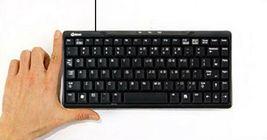 QSENN GP-K7000 USB Wired Mini Compact Keyboard Slim 10keyless Design Keyboard image 4