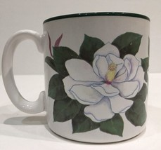 Vintage Mug By Jane Bowen White Magnolia Flowers Inc.Balloons Bogart, GA... - $12.82