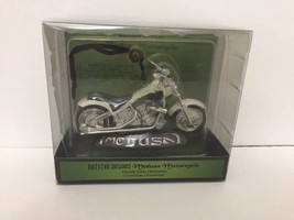 Kurt Adler Ratster Design Chrome Medusa Motorcycle Christmas Ornament New In Box - $19.80
