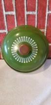 "Vintage Mid century Green lid wood knob 10"" pots pans Dolphin Japan cook... - $33.32"
