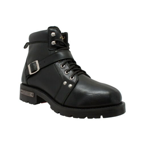 Primary image for Men's YKK Zipper Biker Boot-Black Motorcycle Gear & Apparel by Daniel Smart Mfg