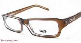 Dolce & Gabbana Women's Eyeglasses D&G1144 758 Brown Plastic Rectangle F... - $76.63