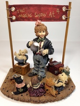 Boyds Bears Amazing Bailey Magic Show at 4 Limited Edition Dollstone 2986 - $59.99