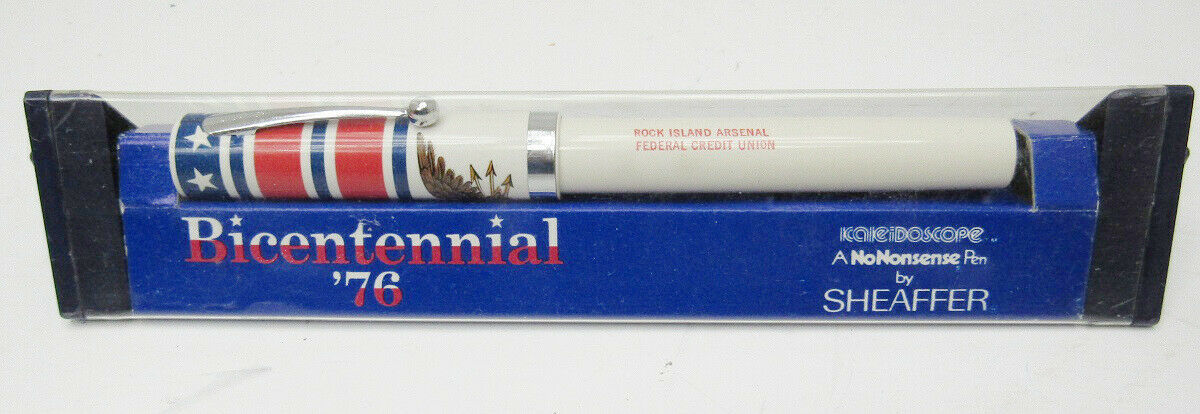 SHEAFFER KALEIDOSCOPE BICENTENNIAL '76 PEN ROCK ISLAND ARSENAL C U PEN  -B