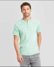 Men's Goodfellow & Co Standard Fit Short Sleeve Henley T-Shirt - Ocean Spray   image 3