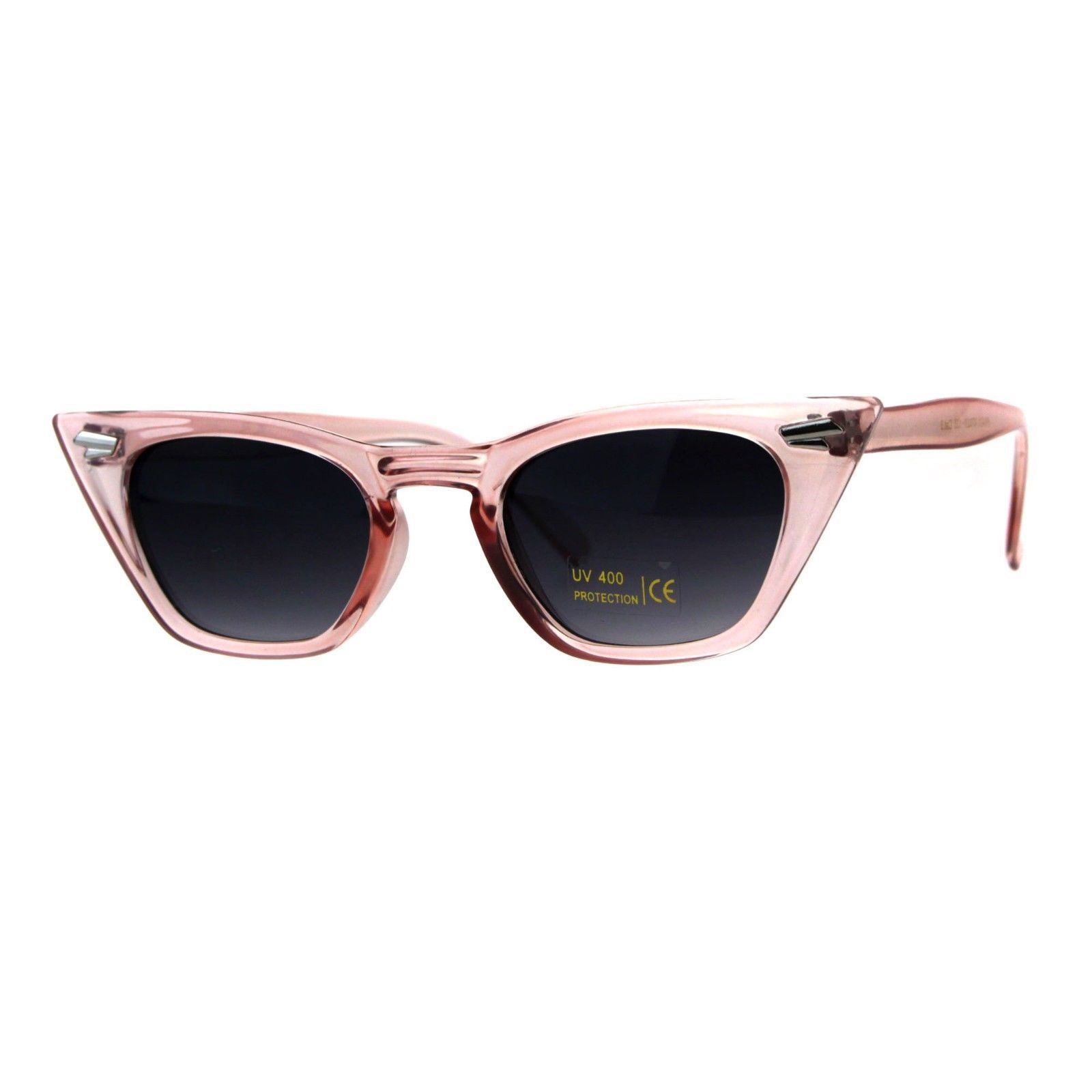 Trapezoid Shape Cateye Sunglasses Womens Vintage Retro Fashion Shades