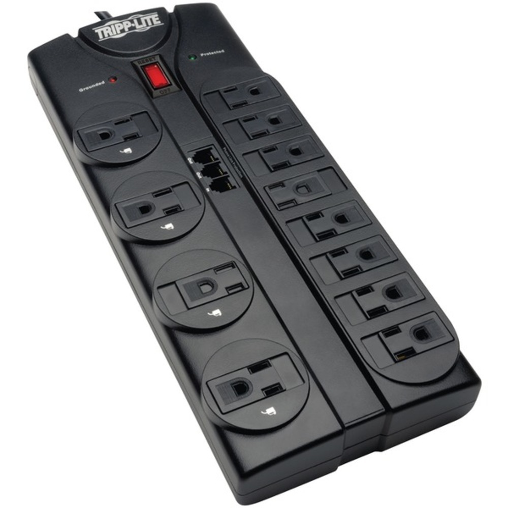 Tripp Lite TLP1208TEL Protect It! 12-Outlet Power Strip Surge Protector, 8-Foot