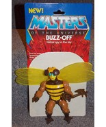 Vintage 1983 Masters Of The Universe Buzz Off Figure With Weapons & Card... - $34.99