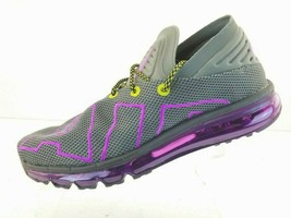 Nike Air Max Flair Athletic Running Shoes Grey Purple Men AH9711 001 Siz... - $81.31
