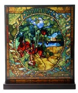 """Tiffany Style The Four Seasons """"SUMMER"""" Stained Art Glass Window Panel D... - $96.52"""