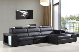 Divani Casa Polaris Mini - Contemporary Bonded Leather Sectional Sofa - €1.390,58 EUR