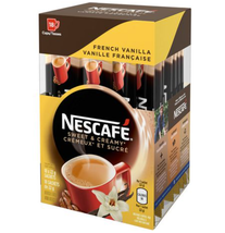 NESCAFÉ Sweet & Creamy French Vanilla, Instant Coffee Sachets (18 x 22 g) - $19.63