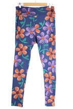 Women's LuLaRoe Leggings Blue Floral Buttery Soft, Size  TC - Tall & Curvy - $230,77 MXN