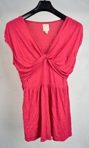 Anthropologie Ric Rac Pink Twirled Tiers Blouse Shirt Top L - $24.75