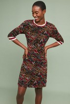 NWT ANTHROPOLOGIE GEOMETRIC VELVET DRESS by ALDOMARTINS S - $123.49