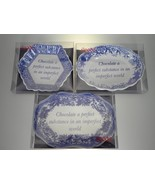 Spode Blue Room Set of 3 Sentiment Trays (Chocolate a Perfect Substance)... - $15.79
