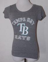 Tampa Bay Rays Gray Top Medium Campus Lifestyle Baseball MLB Womens Shirt - $13.99