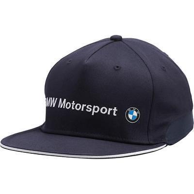 Men's Puma Bmw Motorsport Racing Team Adjustable Flatbrim Hat 02127301 size S/M