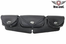Black PVC 3 Pocket WINDSHIELD BAG For Harley Davidson - $56.06