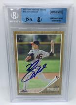 Zack Wheeler 2011 Topps Heritage Minors Autographed Baseball Card JSA/Be... - $24.74
