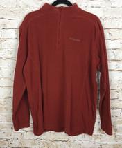 Columbia Jacket Pullover Fleece Burnt Orange 1/4 Zip Men's Size Large - $20.36