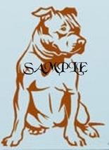 Brown Staffordshire Bull Terrier Dog PDF Cross Stitch Chart - $8.00