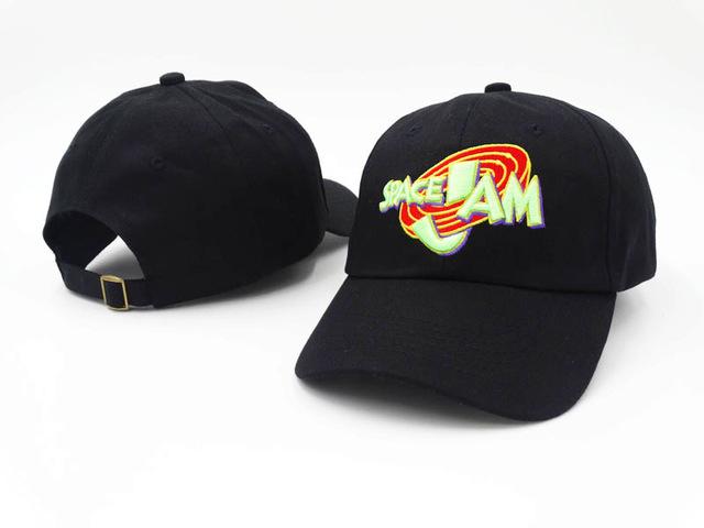 1996 movie space jam cap fashion curved chapeau 3d dad hat casquette brand  sun snapback hip 07e4ed076169