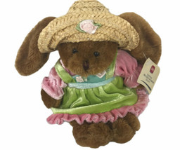 "Plushland MS Society Beanie Bunny Rabbit 9"" Plush With Dress & Hat - $29.69"