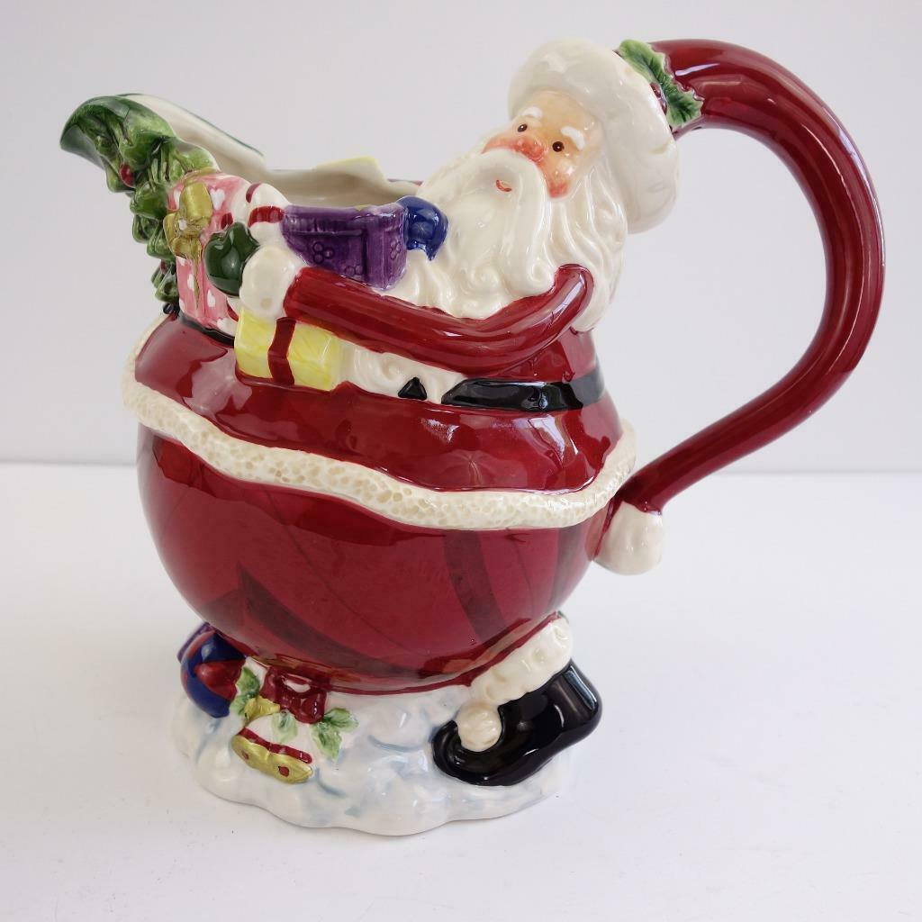 Primary image for Appletree Design Ceramic Santa Claus Water Pitcher 48 Ounces