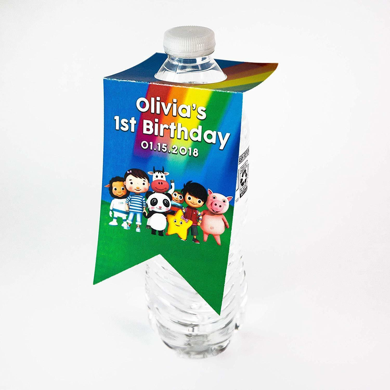 Little Baby Bum Birthday Party Water Bottle Hang Tag