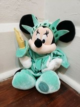 "Disney Store 10"" Minnie Mouse as the Statue of Liberty Holiday Plush - $12.59"
