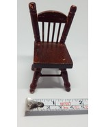 Brown Wood Dollhouse chair for kids pretent play pre-owned nice condition - $6.79