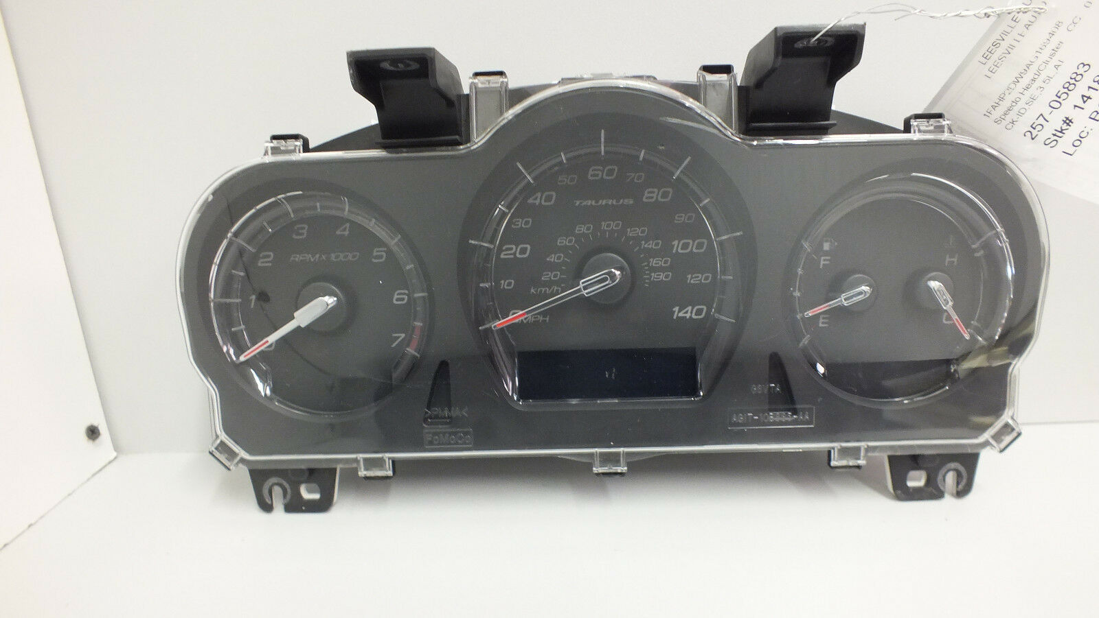 Primary image for 2010 FORD TAURUS SE 3.5L AT INSTRUMENT CLUSTER AG1T-10849-JC (75k miles) #559D