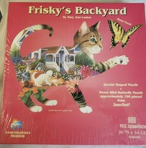 Frisky's Backyard 800 Piece Cat Puzzle Suns Our Mary Ann Lasher New Sealed 2002 - $27.99