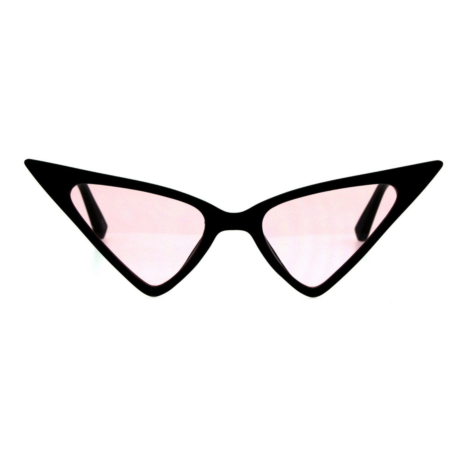 Pointy Triangle Cateye Sunglasses Womens High Fashion Color Lens UV 400
