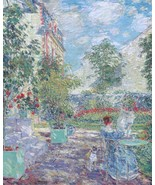 In a French Garden, 1907 - 40x50 inch Canvas Wall Art Home Decor - $159.00