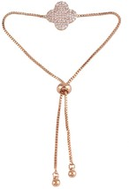 Grace Jun Fashion Bowknot Heart Clover Bee Adjustable Chain Gold/Platinm Plated - $37.58