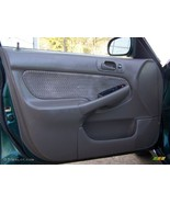 96 00 honda civic 4dr front driver door interior panel brown - $79.18