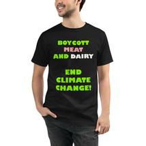 Unisex End Climate Change Organic T-Shirt Eco Friendly Sustainable Vegan - $31.68+