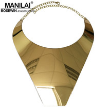 T Show Big Collar Choker Necklace Women Fashion Wide Alloy Geometric Sta... - $15.98