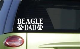 Beagle Papa H781 8 inch Autocollant Décalque Hound Lapin Chasse Chien Box Gilet - $3.60